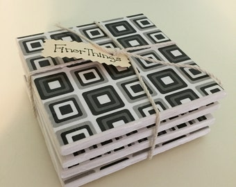 Ceramic Tile Coaster, Tile, Set of 4, Coasters