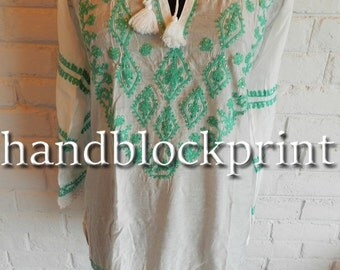 White Embroidered Tunic Top,Ladies White Rayon Tunic,Summer Tunic,Beach Tunic,Beach Cover Up,Top & Tees,Valentine's Top Tunic,Indian Tunic