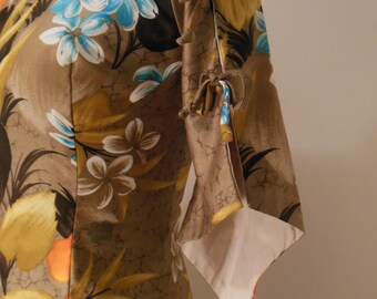 Sale! Vintage Hawaiian Dress, Asian Inspired, Luau, Tiki
