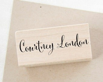 Custom Name Stamp - calligraphy name stamp - personalized stamp - stationery stamp - custom stamp - rubber stamp - gift for her Z1105