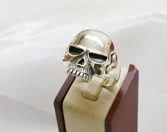 Heavier skull ring Totenkopf ring 925 SR583