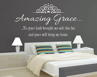 It is well art vinyl wall decal with my soul housewarming for Bedroom hymns lyrics