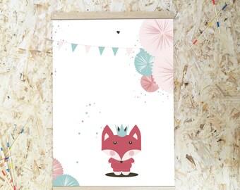 FOX - Poster A3 - Illustration - wooden stick