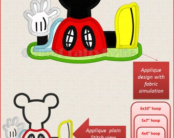Disney Mickey Clubhouse Machine Embroidery Applique Designs 4x4 5x7 6x10 hoop