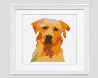 Dog cross stitch pattern, dog counted cross stitch, dog modern cross stitch pattern, dog cross stitch pdf pattern