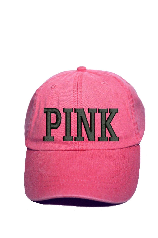 pink baseball cap victorias secret pink by creativecapcompany