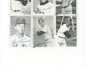 1969 Topps deckle edge vintage baseball photos lot of Six