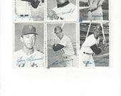 1969 Topps deckle edge vintage baseball photos lot of Six