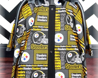 STEELERS Team Sports Squares Carseat Canopy - The Canopy Shoppe & Steelers baby shower | Etsy