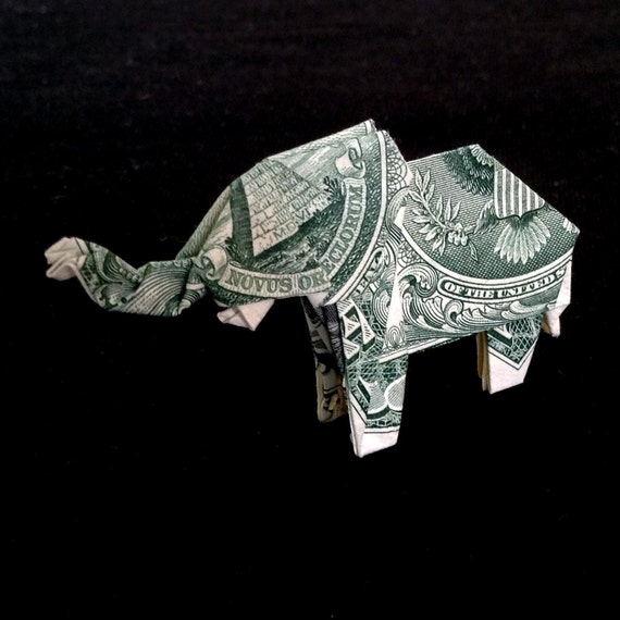 How to make origami elephant out of money - photo#35