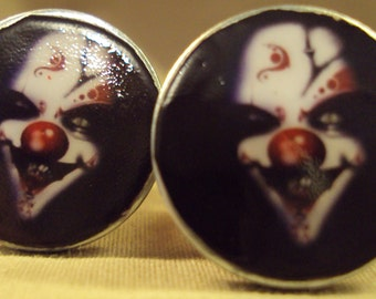 Clown Gauges in Red Handcrafted