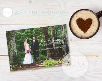 Downloadable Thank You Overlays, Instant Download, Thank You, Wedding Thank You, Photo Overlay, Wedding Photo Thank You, Darcy
