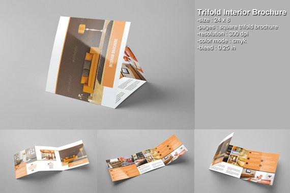 square trifold brochure interior design brochure photoshop. Black Bedroom Furniture Sets. Home Design Ideas