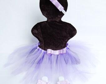 Baby Girl Tutu Set, Matching Headband and Barefoot Sandals,Tutu Skirt for Girl, Purple Tutu Skirt, Birthday Tutu Skirt, Photo Prop Tutu