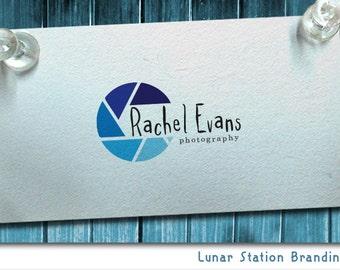 Blue logo, Photography logo, Custom Camera logo, Lens logo, Premade logo, Photographer logo, Artist logo