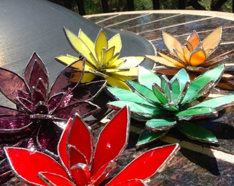 Stained Glass Lily Flower