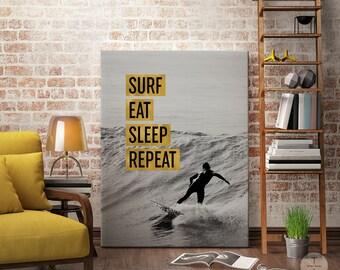Inspirational Surf Home Decor, Surfing Motivational Ocean Print, Surfer Boy Wall Art, Surf Fan Art, Ocean Printable, Ocean Photography Art