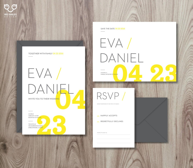 Digital printable diy wedding invitation template set rsvp for Digital wedding invitations with rsvp