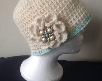 IVORY…Crocheted Women's Hat