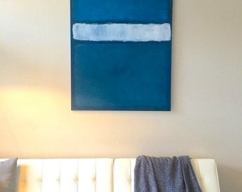 """36"""" x 48"""" Rothko Inspired Painting on Stretched Canvas"""