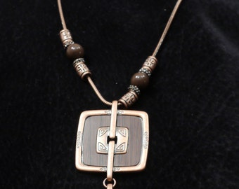 Bronze Cleavage Necklace