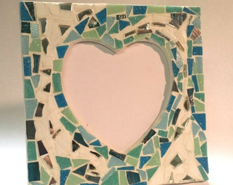Mosaic Heart Frame