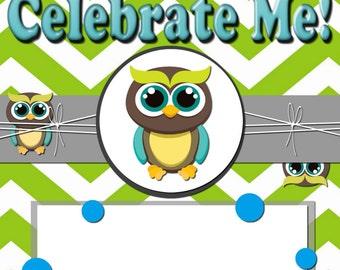 "Silly Owls ""Celebrate Me"" Invitation!"