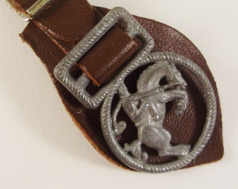 Western Rodeo Style Accessory, Belt Fob, Vintage Country and Western Accessory, Southwestern Attire