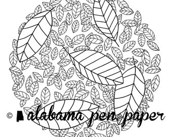 Leaves Coloring Sheet Download
