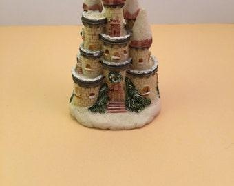 Vintage Mini Castle Figurine - Terrarium