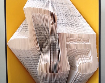 MUSICAL NOTES -  Book Folding Pattern. DIY gift for book art. Template with step by step instructions. Very easy, no measuring required