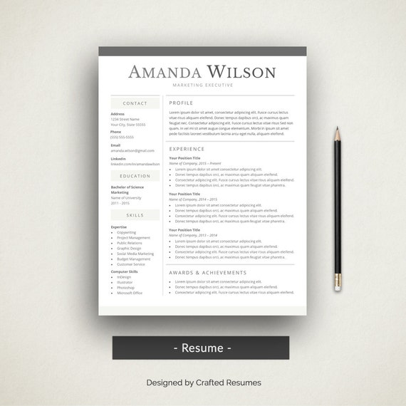 Simple Resume Template Word: Creative Word Resume Cover Letter Simple Resume Template