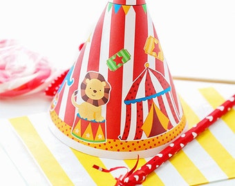 Fun Time Circus Printable Party Hat, Circus Party Printables, Circus Party Hat, Circus Party, Instant Download