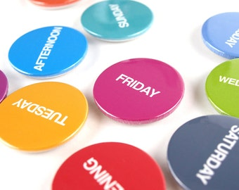 Days of the week magnet set 10 pieces