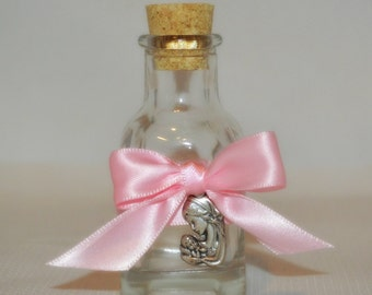 Mini bottle designed for Holy Water - Baptism, first communion, Confirmation or Wedding Favors