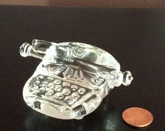 Glass Typewriter Figurine