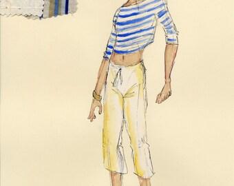 Daniel - Once On This Island Original Costume Rendering