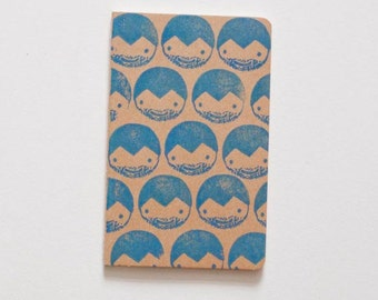 Blank notebook with lovingly illustrated cover