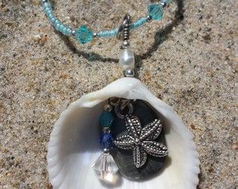 Beach jewelry - handmade starfish necklace - shell jewelry - starfish charm