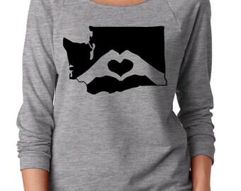 Washington. WA. Love. Washington home state. Slouchy shirt. Seattle
