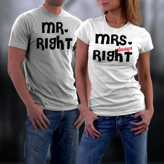 Couples Tshirts Mr And Mrs Always Right Funny By Styleurshirt