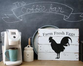 Rustic Farmhouse Sign, Farm Fresh Eggs reclaimed wood sign, Farmhouse Decor, Shabby Chic Farmhouse Decor