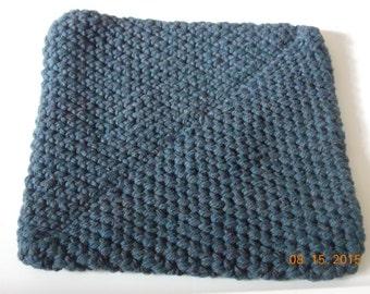 Potholder, Blue Potholder, Double Thick Potholder,Crochet Trivet, Crochet Potholder, Blue Trivet, Trivet,