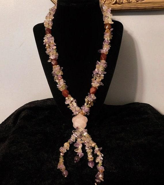 BOHO Gemstone Necklace / Artisan / Fashion