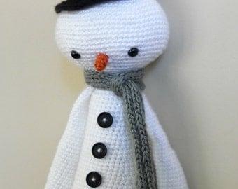 Snowman Plush Lalylala Crochet Doll - Made to Order