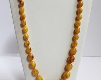 Mustard Vintage Necklace