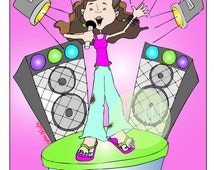 Rock Star! - Digital Download - Rockstar Girl - Girl Power - Rock On - Future Star - Girl's Room Decorations - Girl's Room Theme
