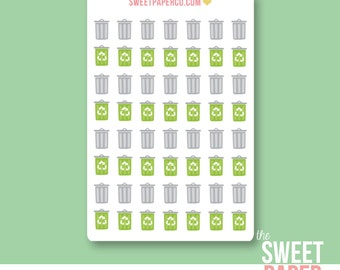 Garbage & Recycling Planner Stickers