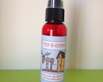 FILLED Poo B Gone Odor Spray