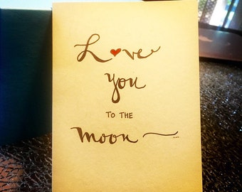 Love You To The Moon - Card